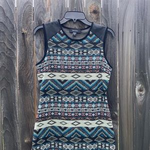 Southwest bodycon dress, perfect condition